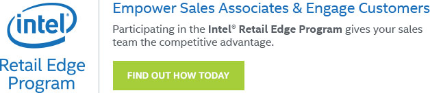 Find out how the Intel® Retail Edge Program can help your staff sell more PCs